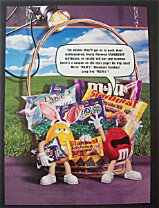 Vintage Ad: 1998  M & M  Chocolate  Candies (Image1)