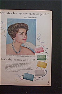 Vintage Ad: 1959 Lux Soap With Anne Baxter