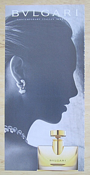 2004 Bvlgari Perfume with Lovely Side View of Woman  (Image1)