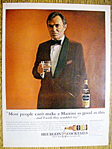 Vintage Ad: 1964 Heublein Cocktails W/ James Mason