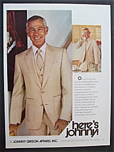 1980 Johnny Carson Apparel w/Television's Johnny Carson (Image1)