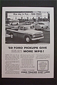 1959 Ford Trucks with Ford Styleside Pickup (Image1)