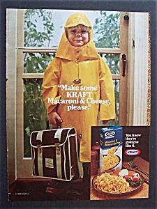 1980 Kraft Macaroni & Cheese Dinner w/Child in Raincoat (Image1)