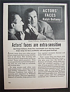 1951 Williams Shaving Cream With Ralph Bellamy