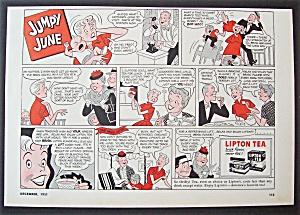 Vintage Ad: 1951  Lipton  Tea  with  Jumpy  June (Image1)