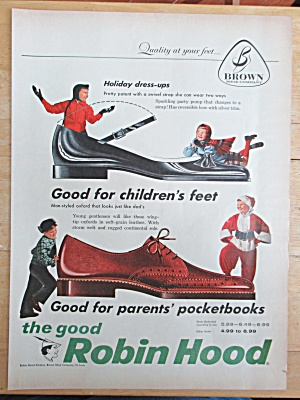 1957 Robin Hood Shoes with Holiday Dress Up Shoes  (Image1)