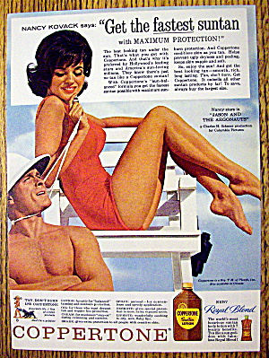 1963 Coppertone Suntan Lotion with Nancy Kovack (Image1)