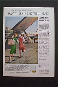 1959 Kotex Napkins with Two Women Standing By Plane (Image1)