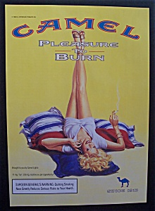 1999 Camel Cigarettes W/woman Laying & Smoking
