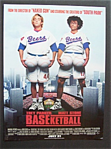 1998 Movie Ad For Baseketball