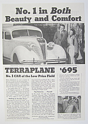 1930's Terraplane with Couple Looking at the Car  (Image1)