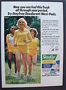 1981 Stayfree  Feminine  Napkins w/ Cathy  Rigby (Image1)