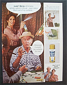 1980 Lysol Disinfectant Spray With Harvey Korman