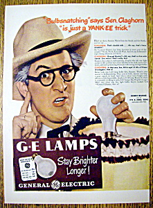 Vintage Ad: 1947 General Electric Lamps w/Kenny Delmar (Image1)