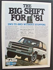 Vintage Ad: 1981 4 WD Chevy Blazer (Image1)