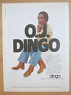 1977 Dingo Leather Boots with O. J. Simpson (Image1)