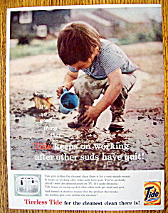 1959 Tide Laundry Detergent w/Little Boy Playing (Image1)