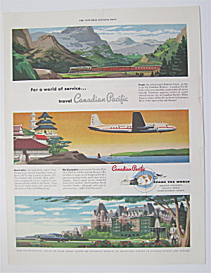 1949 Canadian Pacific With Plane, Train & Car