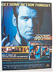 2000 Movie Ad For 007 The World Is Not Enough