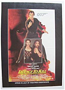 1989 Movie Ad For License To Kill