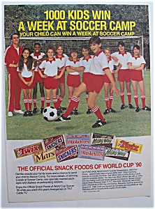 Vintage Ad: 1990 Official Snack Foods Of World Cup '90