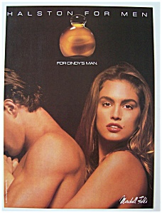 1990  Halston  For  Men  with  Cindy  Crawford (Image1)