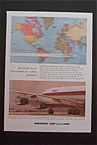 1959 Boeing 707 & 720 With Two Diagrams Of Plane