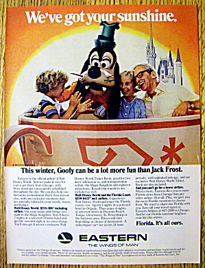 1978 Eastern Airline W/walt Disney World's Goofy