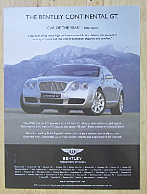 2004 Continental Automobile With Bentley Gt