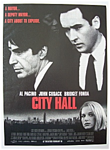 1996 Movie Ad For City Hall