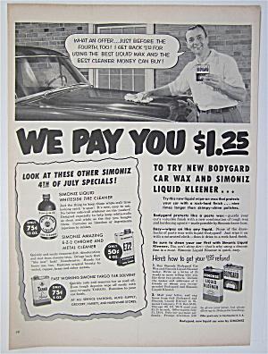 1954 Simoniz Liquid Kleener with Man Waxing Car  (Image1)