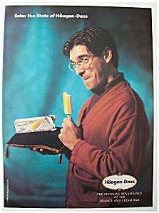 Vintage Ad: 1990 Haagen - Dazs Orange & Cream Bar (Image1)