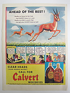 1938 Calvert Whiskey with Gazelles Running In Field  (Image1)