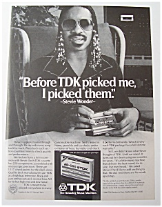Vintage Ad: 1980 Tdk Cassette Tapes With Stevie Wonder
