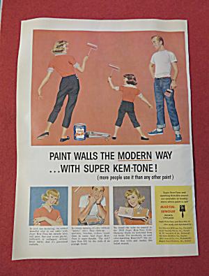 1959 Super Kem Tone Paint w/Man Watching Woman & Girl (Image1)