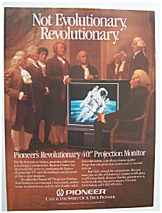"Vintage Ad: 1987 Pioneer 40"" Projection Monitor"