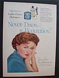 1956 Lustre-creme Shampoo With Movie Star Jeanne Crain