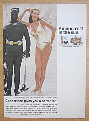 1969 Coppertone Suntan Lotion w/Julie Newmar (Catwoman) (Image1)