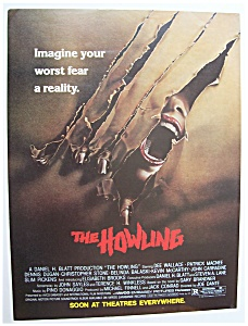 1981 Movie Ad For The Howling