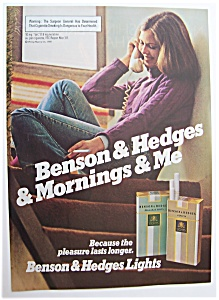 1981 Benson & Hedges 100's Cigarettes