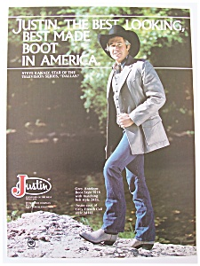 1981 Justin Boots With Steve Kanaly