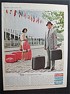 1964 American Tourister Luggage W/ Bob Hope