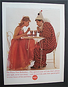 1963 Coca Cola (Coke) With A Man & Woman In Costumes