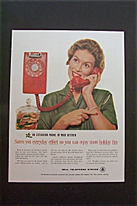 1959 Bell Telephone System With Woman On Telephone