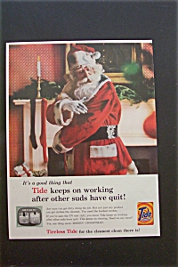 1959 Tide Detergent with Santa Claus & His Dirty Suit (Image1)