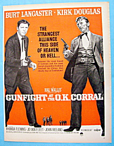 Vintage Ad: 1957 Gunfight At The O.k. Corral