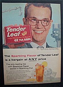 1959 Tender Leaf Tea Bags With Bill Cullen