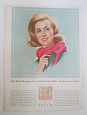 1964 Breck Shampoo with Lovely Blond Wearing Red Scarf (Image1)