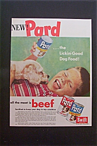 1959 Pard Dog Food with Dog Licking Boy's Face  (Image1)