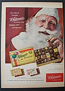 1958 Whitman's Chocolates with Santa Claus & Candy (Image1)